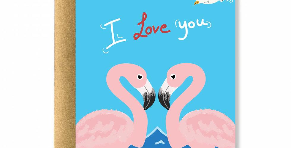 Flamingo Love Greeting Card