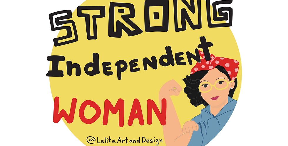 Strong Woman Die Cut Sticker
