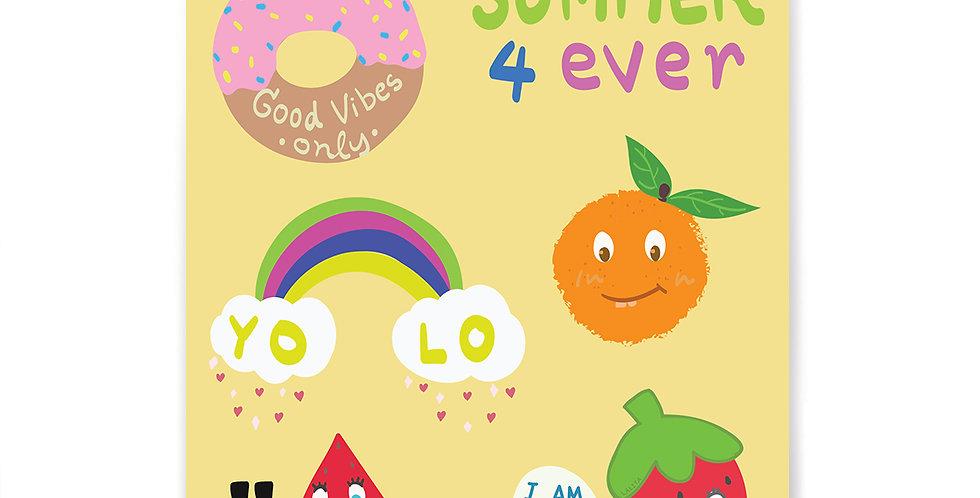 Fruity Stickers Set