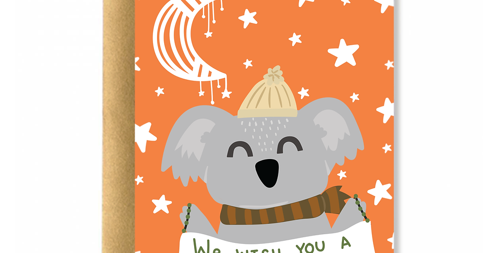 Koala Merry Christmas Greeting Card