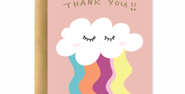 Blissful Thank You Greeting Card