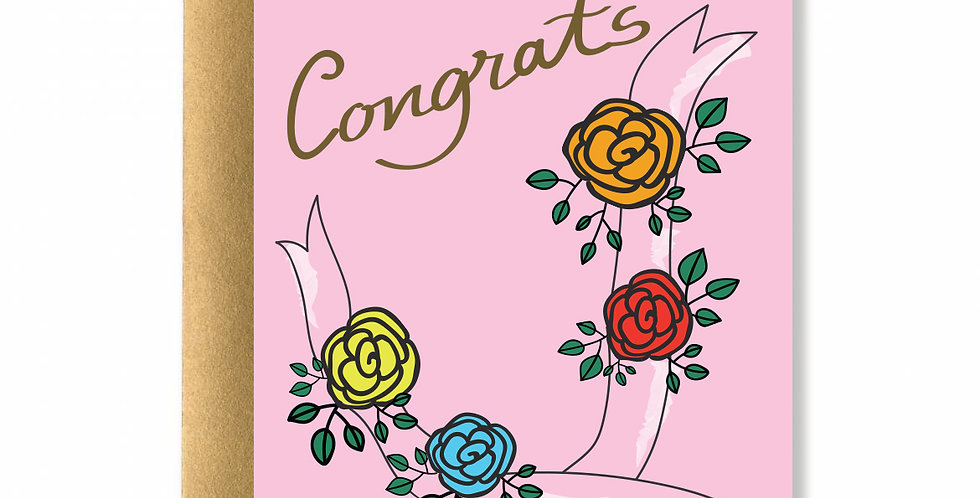 Roses Congrats Greeting Card