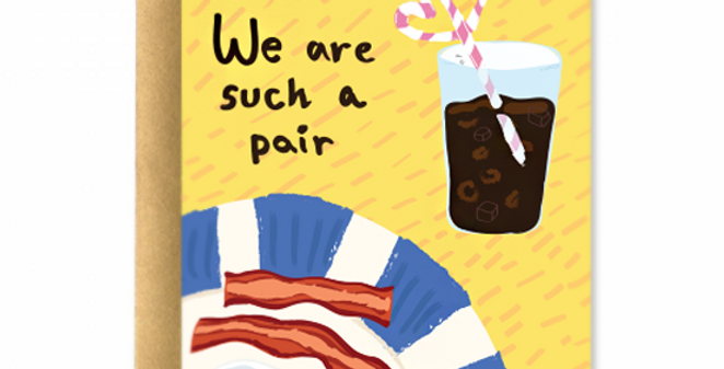 Bacon and Egg Greeting Card