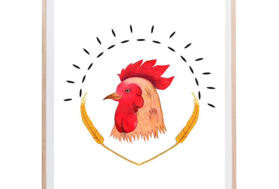 Land Chicken Art Print