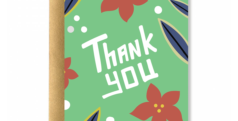 Indy Thank You Greeting Card