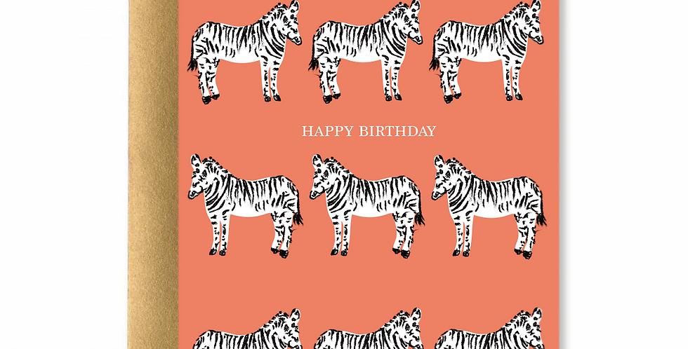 Zebras Happy Birthday Card