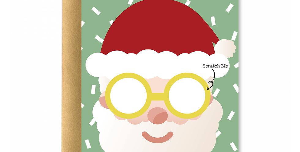 Scratch Me! Santa Greeting Card