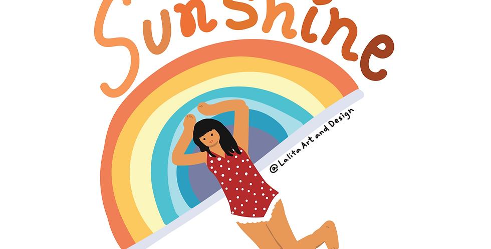You Are My Sunshine Die Cut Sticker