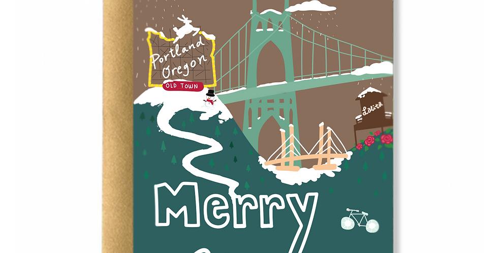 Portland Holidays Greeting Card