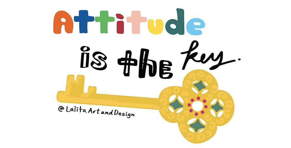 Attitude Is The Key Die Cut Sticker