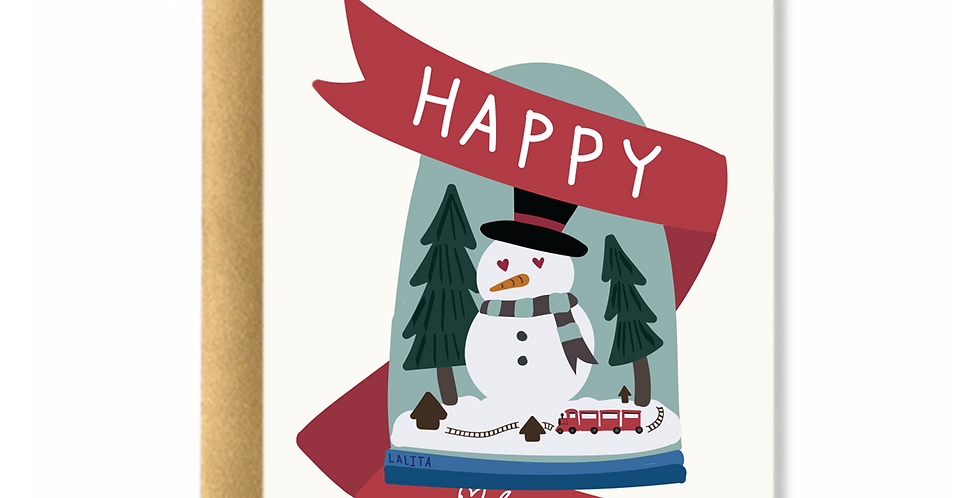 Christmas Snow Globe Greeting Card