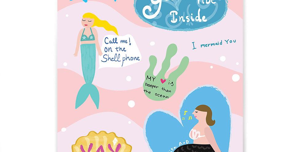 I Mermaid You Stickers Set