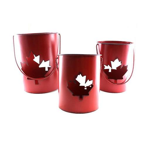 Canada Leaf Lanterns Set of 3