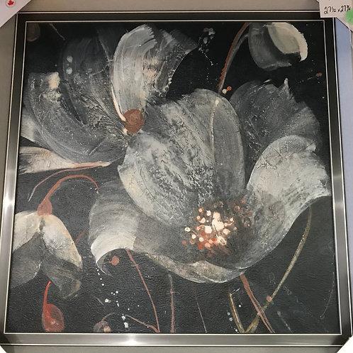 """Framed Floral Print 28"""" x 28"""""""