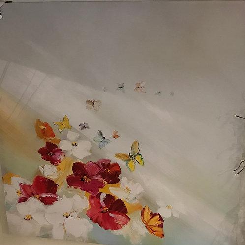 """Floral Canvas 32"""" x 32"""""""