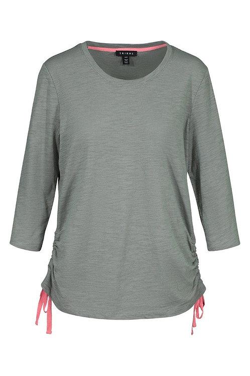 3/4 Sleeve Scoop Neck w/ side ties