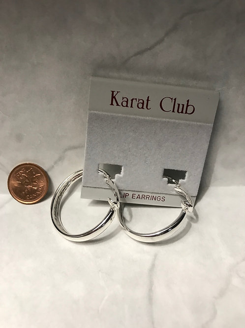 Silver Hoop Clip Earrings