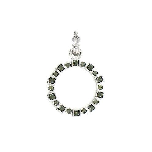 Myka Black Diamond Multisetting Square/Round Detachable
