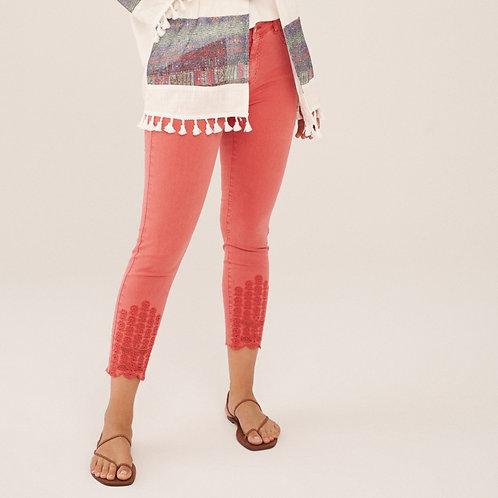 Coral Crop Jeans