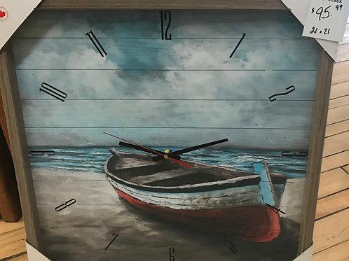 "Boat Clock 21""x21"""