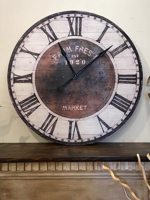 "Clock Farm Fresh 36"""