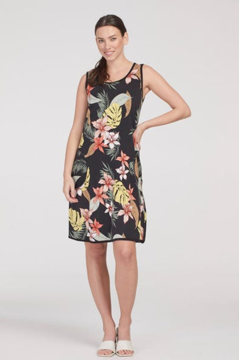 Sleeveless Reversible to Black Dress with pockets