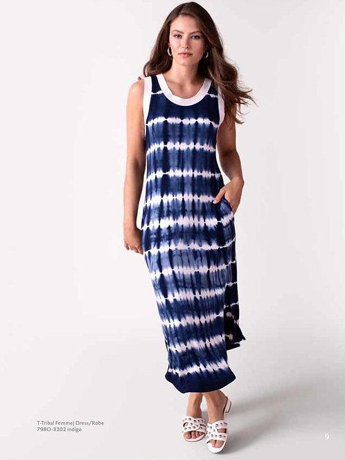 Sleeveless Tie-Dye Jersey Dress