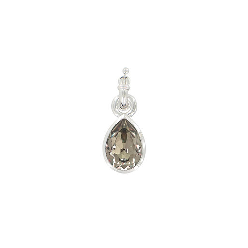 Myka Greige Medium Teardrop Detachable Pendant