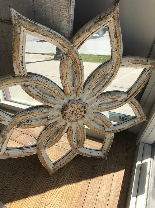 Antiqued Floral Mirror