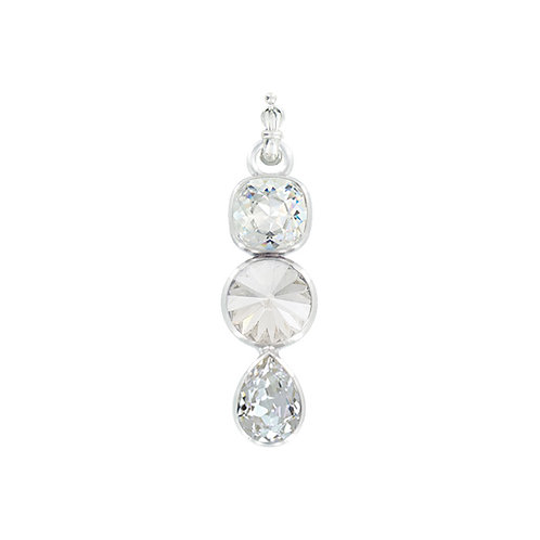 Myka Crystal Charm Teardrop/Cushion/Rivoli Detachable Pendant