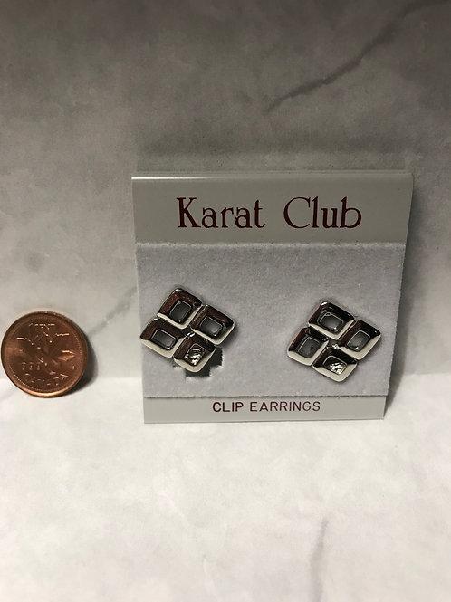 Silver Clip Earrings