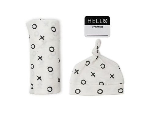 lulujo Hello World Blanket & Hat