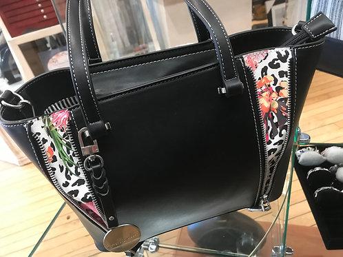 Simply Noelle Black/Floral Handbag
