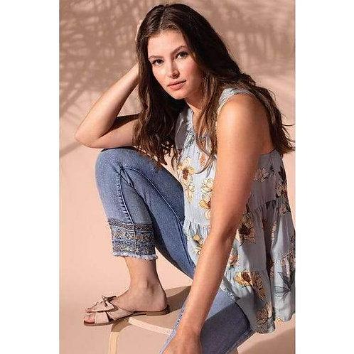 Audrey 5 Pocket Straight Crop