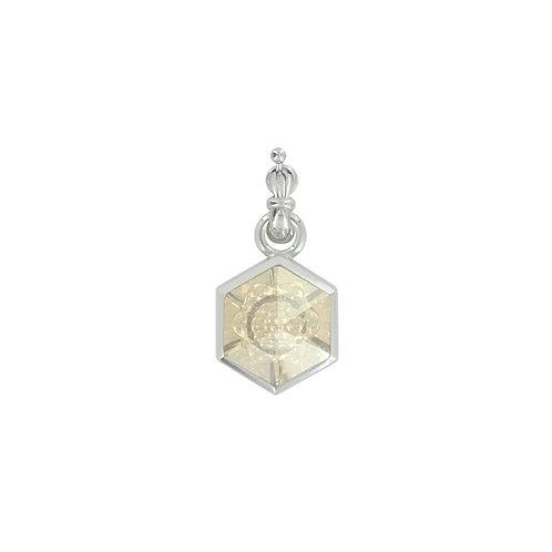 Myka Golden Shadow Hexagon Cosmic Flower Detachable Pendant