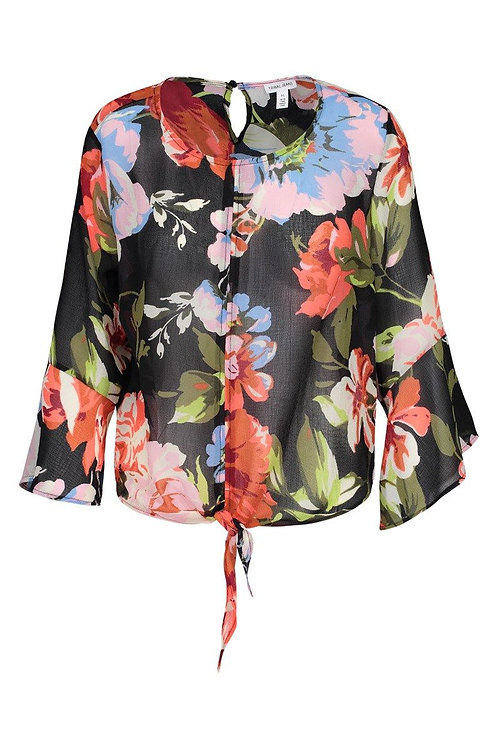 Bell Sleeve Blouse w front tie