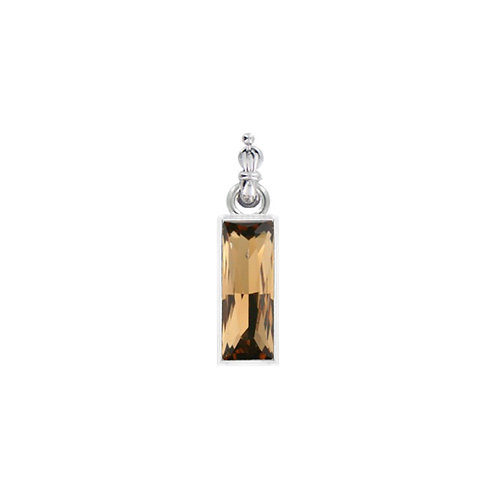 Myka Light Smoked Topaz Large Princess Baguette Detachable