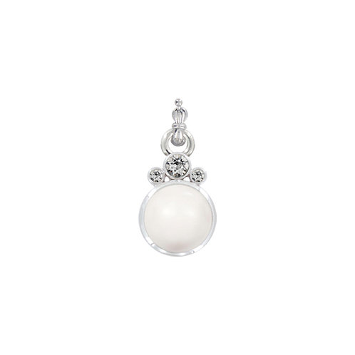 Myka Crystal White Pearl Large Crystal Pearl Detachable Pendant