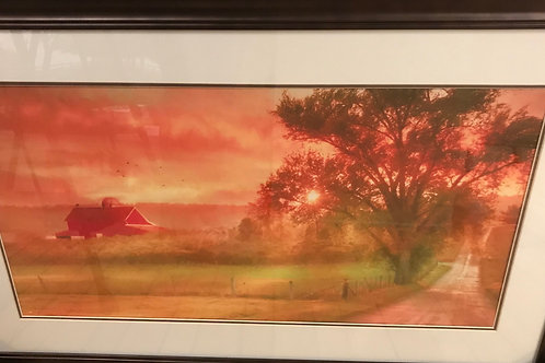 "Framed Glass Print  40"" x 26"""