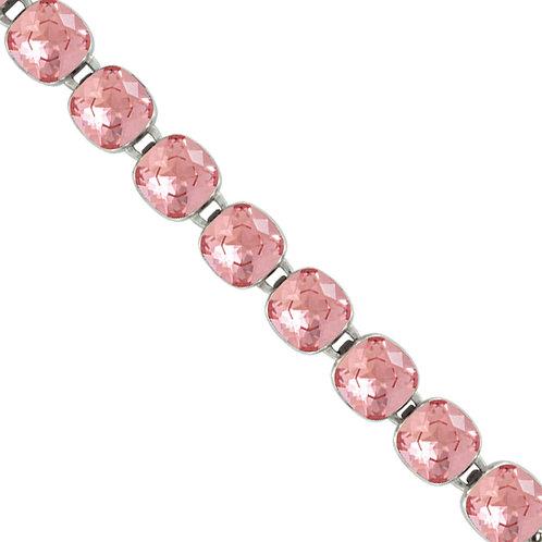 Myka Rose Peach Bright Rhodium Medium Cushion Bracelet