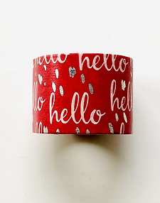 "WASHI TAPE ""RED HELLO"""