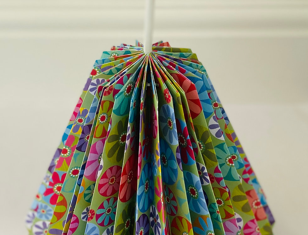"DROP LAMPSHADE ""FLOWER POWER"""