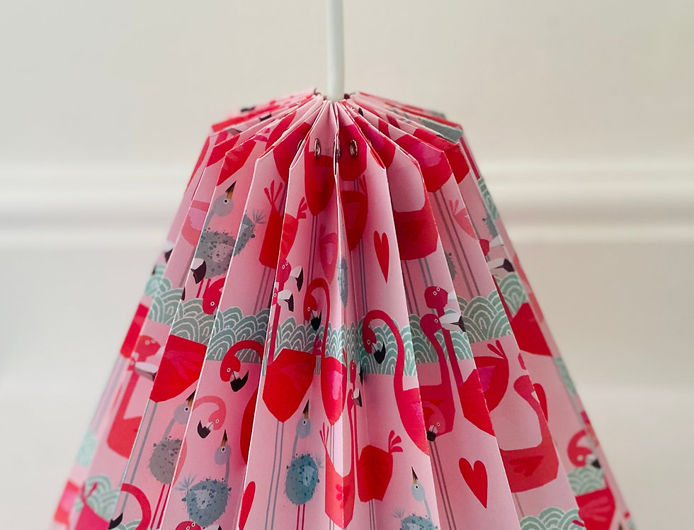 "DROP LAMPSHADE "" FLAMINGO"""