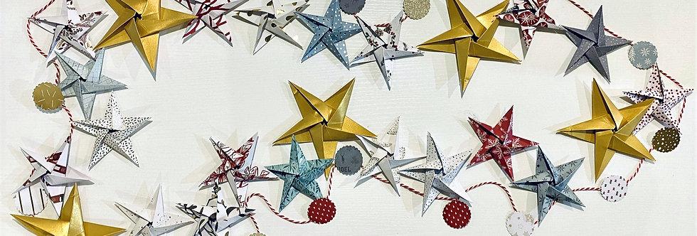 FYO STAR ADVENT GARLAND SCANDI