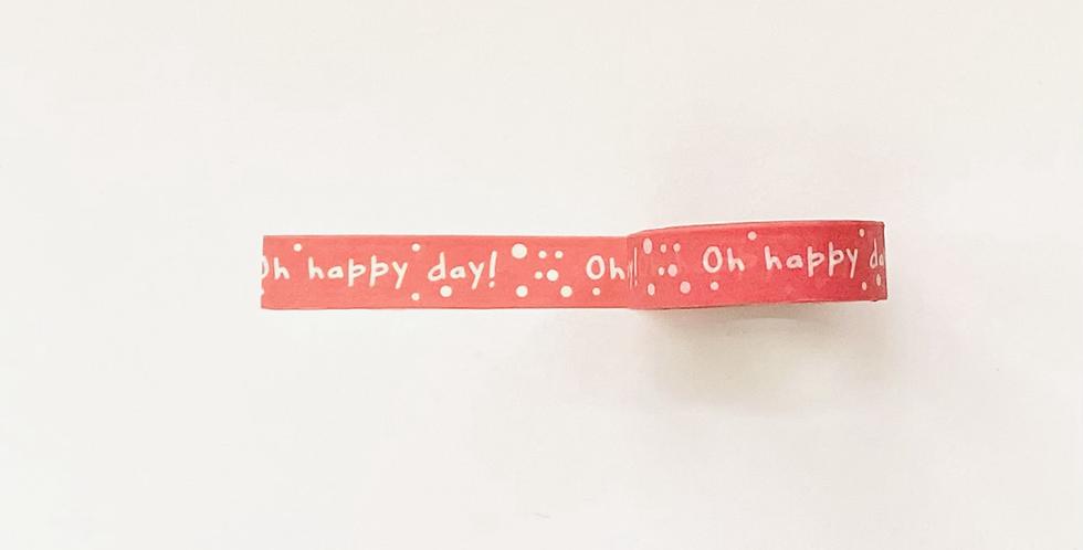 "WASHI TAPE ""SLIM HAPPY DAY"""