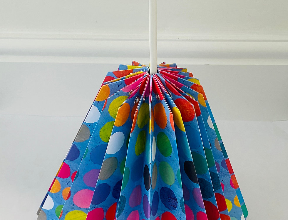 "DROP LAMPSHADE ""DOTTIES"""