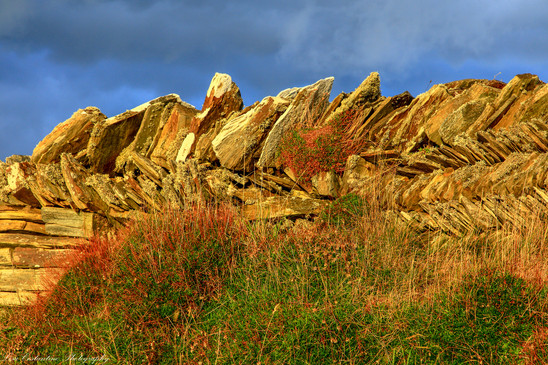 Dry stone wall, Tintagel