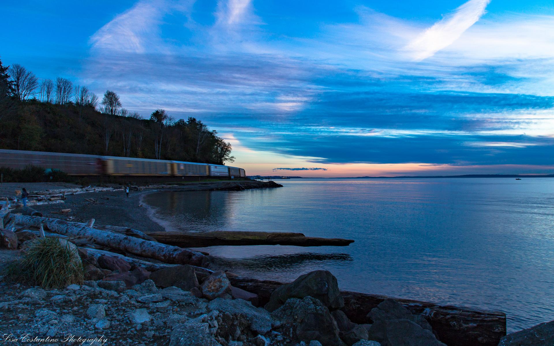 Sunset train