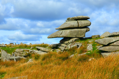 A cheesewring on Bodmin Moor