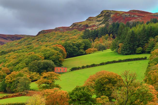 Pink house, Elan Valley, Wales